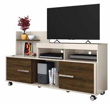 Rack para Tv Gaspar color Off white / Savana