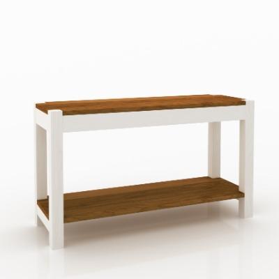 Mesa de arrimo Astro color Blanco / castaño