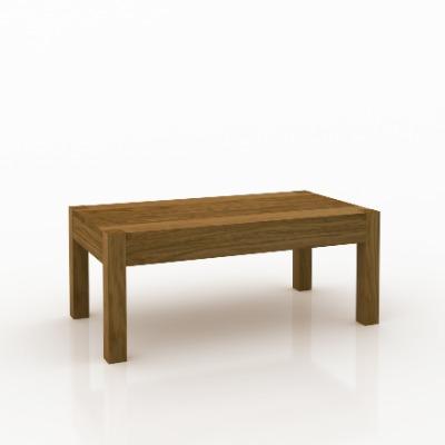 Mesa de living central rectangular Astro Castaño