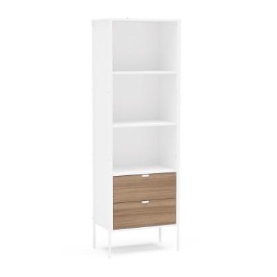 Biblioteca Mallorca 2 cajones color Blanco/madera