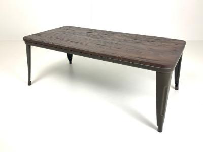Mesa de living central industrial JA M120 tapa de madera