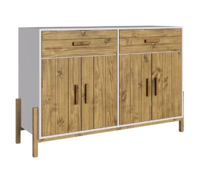 Aparador Fusión con 4 puertas y 2 cajones en madera maciza