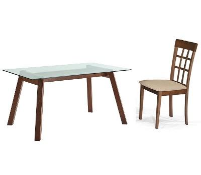 Comedor Tapa de vidrio con 6 sillas Noa 75x150x90