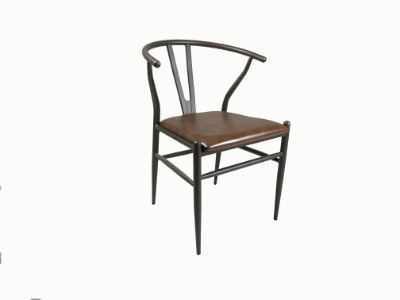Silla Industrial 522 asiento tapizado en eco cuero
