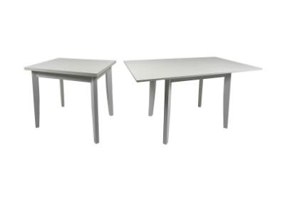 Mesa libro en madera maciza color blanco