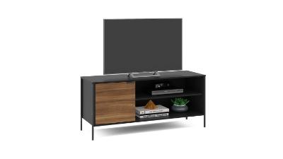 Rack para Tv Mallorca 135cm color Negro/madera