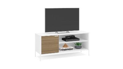 Rack para Tv Mallorca 135cm color Blanco/madera