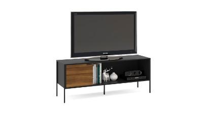 Rack para Tv Mallorca 155cm color Negro/madera