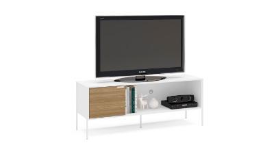 Rack para Tv Mallorca 155cm color Blanco/madera