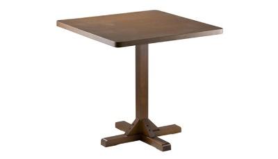 Mesa de comedor Florencia  80x80 base central color imbúia