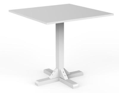 Mesa de comedor Florencia 80x80 base central color blanco