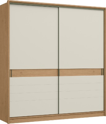 Placard 0950 ARMANI 100% MDF 2 puertas corredizas color Angelin/Off White.
