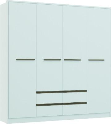 Placard 3276 LUXUS 4 puertas batientes y 4 cajones color blanco