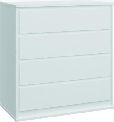 Cómoda 2140 con 4 cajones color Blanca