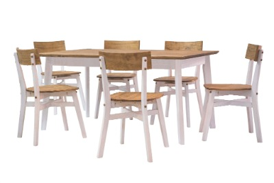 Comedor rectangular con 6 sillas Luna