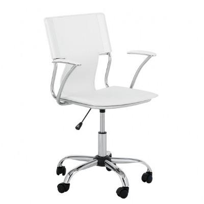 Silla giratoria de escritorio R. 2918 eco cuero blanco