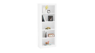 Biblioteca con Moldura y 5 estantes color blanco R.2141