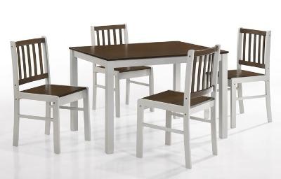 Juego de comedor ANKARA. Rectangular con 4 sillas.