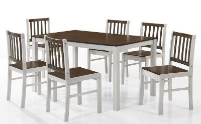 Juego de comedor ANKARA. Rectangular con 6 sillas. ( 136x80 )