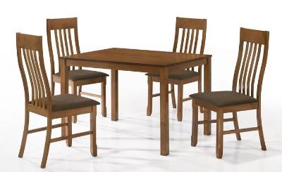 Juego de comedor ESMIRNA. Rectangular con 4 sillas ( 106x80 )