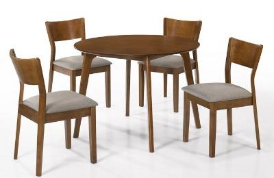 Juego de comedor BODRUM. Redondo con 4 sillas ( D-100cm )