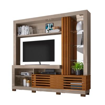 Modular para TV FRIZZ R.666. Con luz LED colror Fendi/Natural