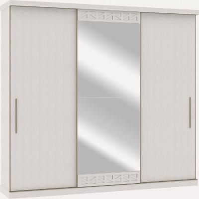 Placard 3750 PLENUS 3 puertas corredizas. Color Blanco. Espejo opcional