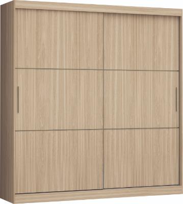Placard 3677 VERSATIL 2 puertas corredizas color Nogueira. Espejo opcional