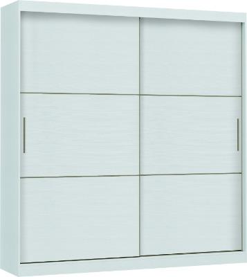 Placard 3677 VERSATIL 2 puertas corredizas color Blanco. Espejo opcional