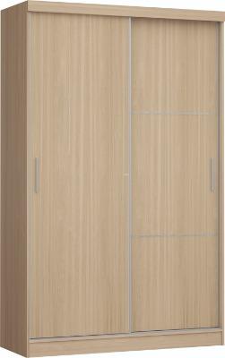 Placard 3825 VERSATIL 2 puertas corredizas color Nogueira. Espejo opcional