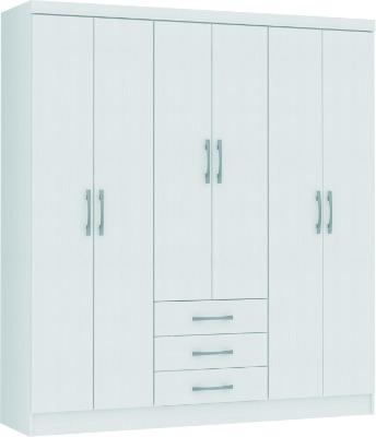 Placard 3266 VERSATIL 6 puertas batientes color Blanco